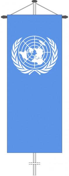 Vereinte Nationen als Bannerfahne
