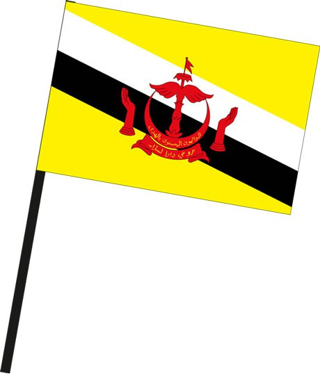 Brunei als Stockfahne