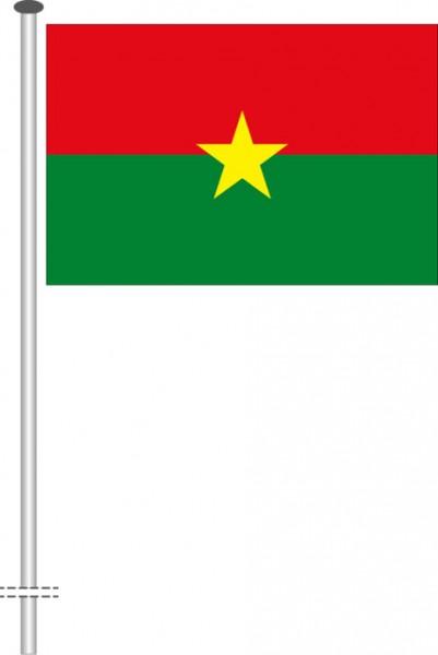 Burkina Faso als Querformatfahne