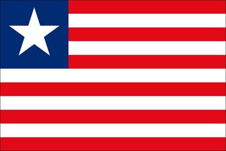 Liberia als Fanfahne