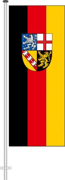 Saarland - Bürgerflagge als Hochformatfahne