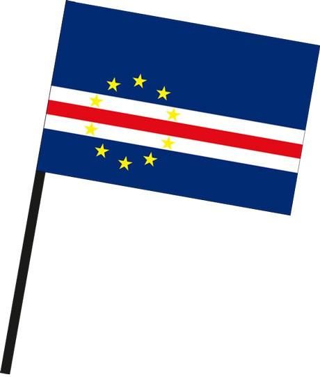 Kap Verde als Stockfahne