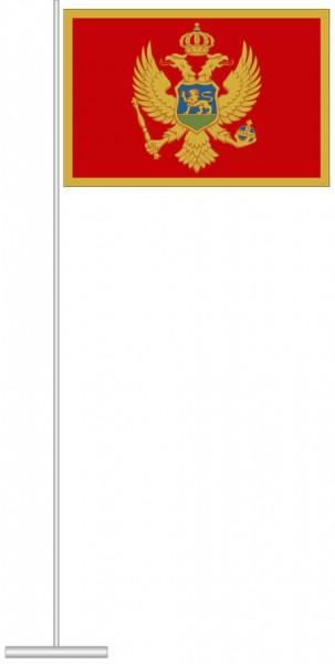 Montenegro als Tischfahne