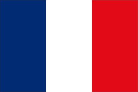 Frankreich als Fanfahne