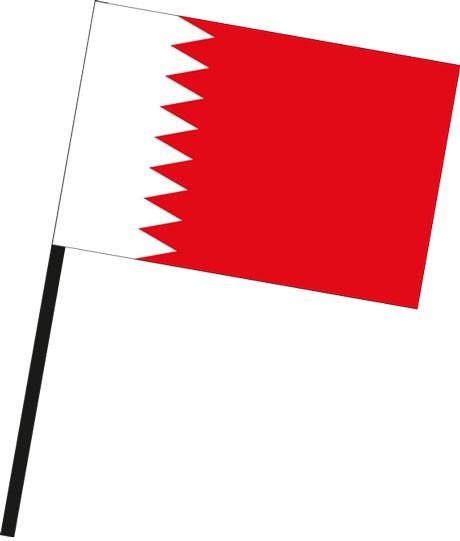 Bahrain als Stockfahne
