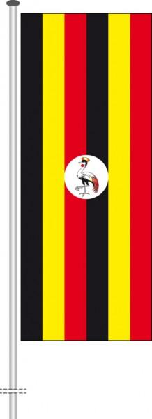 Uganda als Hochformatfahne