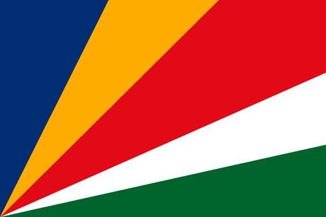 Seychellen als Fanfahne