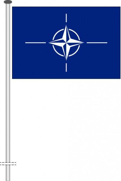 Nato als Querformatfahne