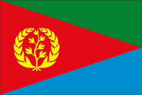 Eritrea als Fanfahne