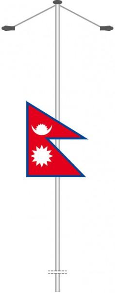 Nepal als Bannerfahne