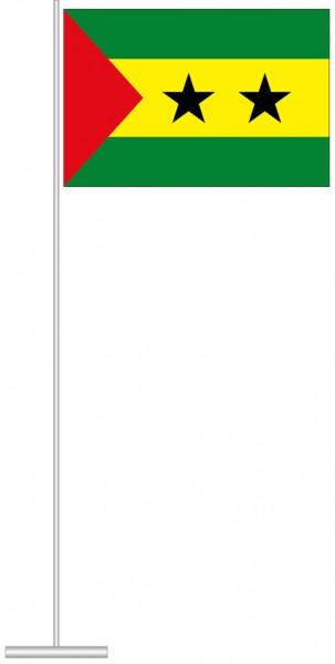 Sao Tome und Principe als Tischfahne