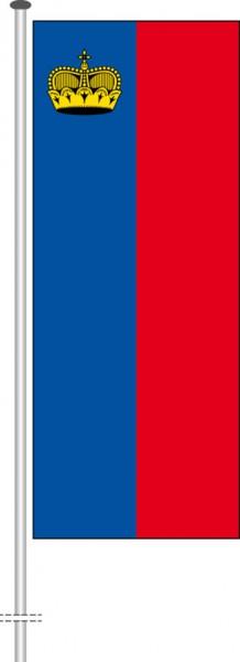 Liechtenstein als Hochformatfahne