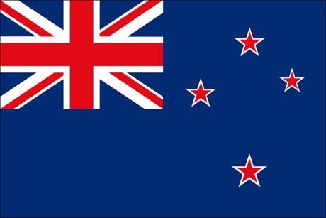 Neuseeland als Fanfahne