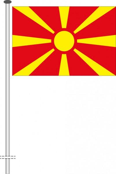 Mazedonien als Querformatfahne