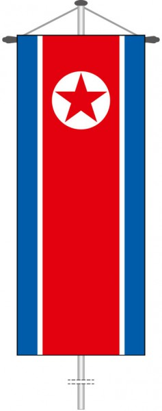 Nordkorea als Bannerfahne
