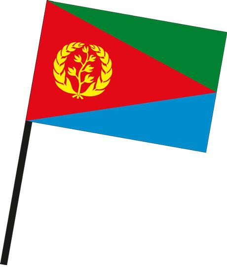 Eritrea als Stockfahne