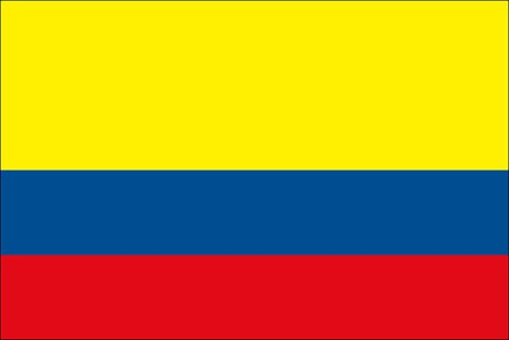 Kolumbien als Fanfahne