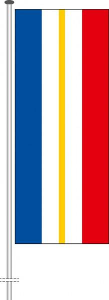 Mecklenburg-Vorpommern - Streifenflagge als Hochformatfahne