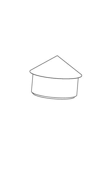 Abdeckkappe Mastkopf Kompakt - grau