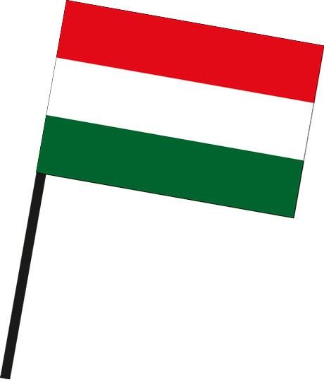 Ungarn als Stockfahne