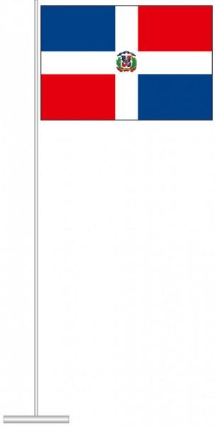 Dominikanische Republik als Tischfahne