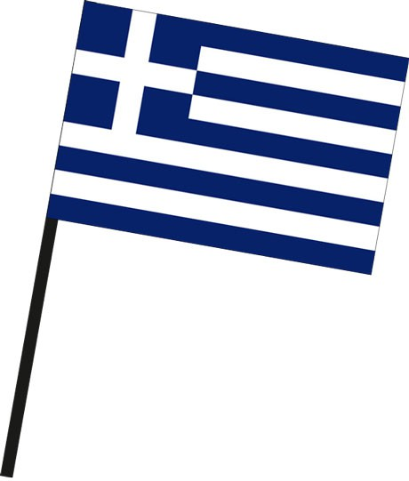 Griechenland als Stockfahne