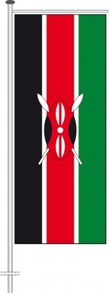 Kenia als Auslegerfahne