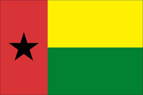 Guinea-Bissau als Fanfahne