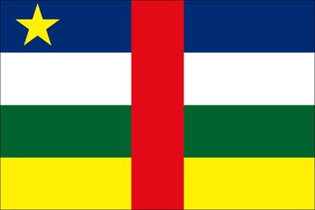 Zentralafrikanische Republik als Fanfahne