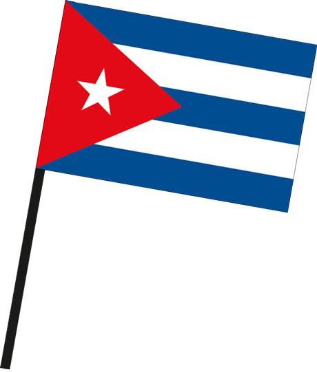 Kuba als Stockfahne