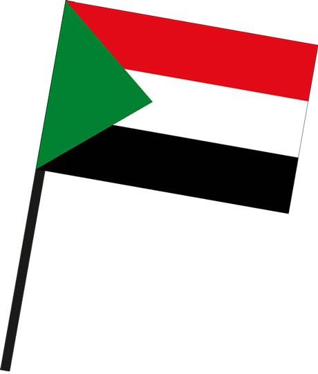 Sudan als Stockfahne