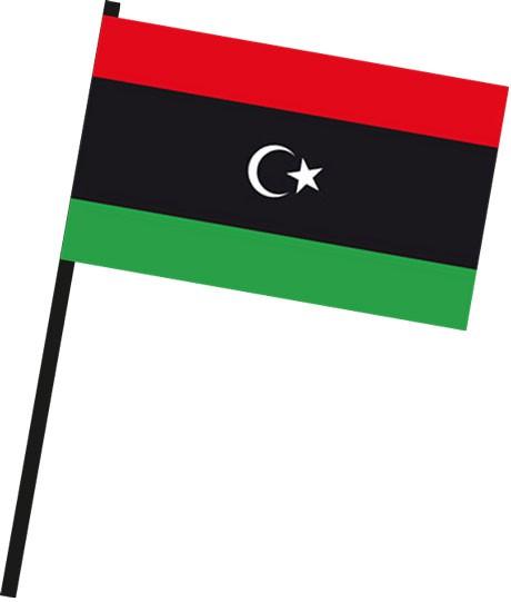 Libyen als Stockfahne