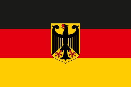 Bundesdienstflagge als Fanfahne