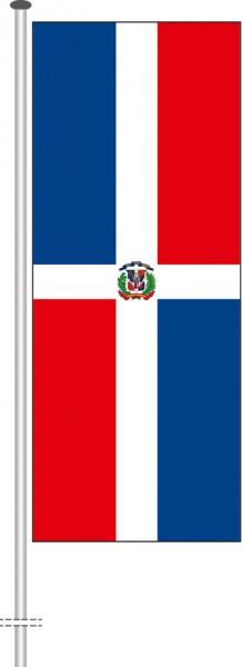 Dominikanische Republik als Hochformatfahne