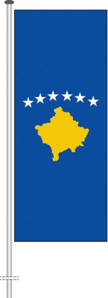 Kosovo als Hochformatfahne