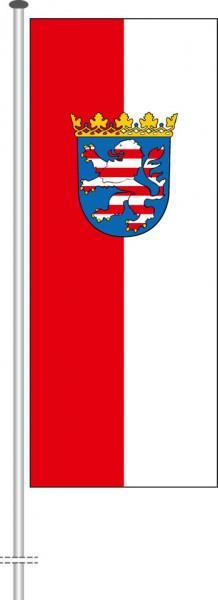 Hessen - Dienstflagge als Hochformatfahne
