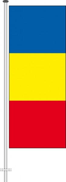 Rumaenien als Hochformatfahne