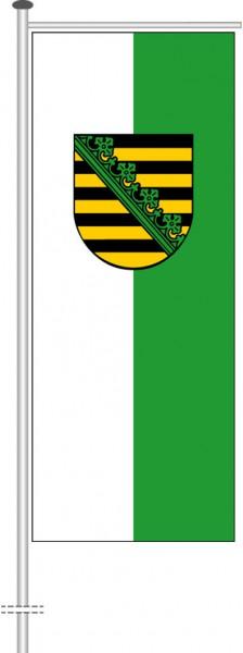 Sachsen - Dienstflagge als Auslegerfahne