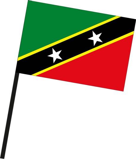 St. Kitts und Nevis als Stockfahne