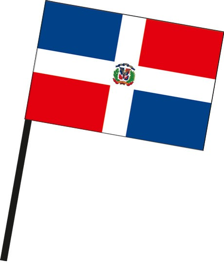 Dominikanische Republik als Stockfahne