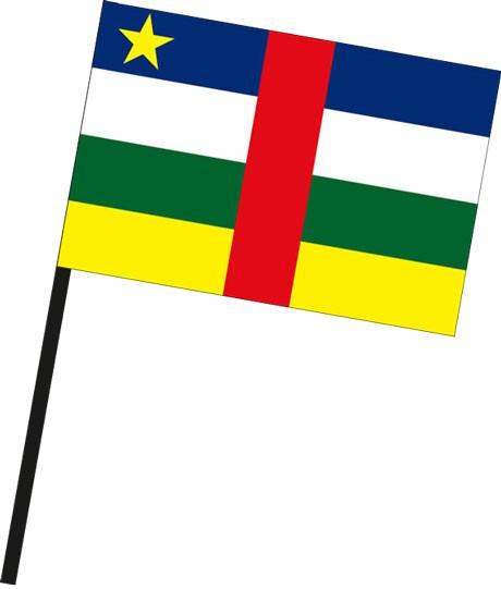 Zentralafrikanische Republik als Stockfahne