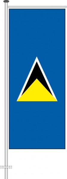 St. Lucia als Auslegerfahne