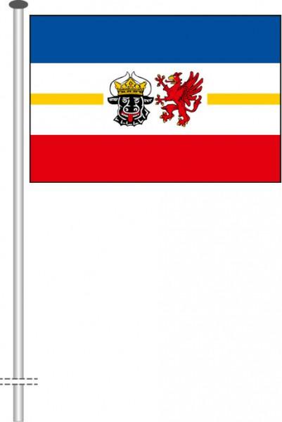 Mecklenburg-Vorpommern - Dienstflagge als Querformatfahne