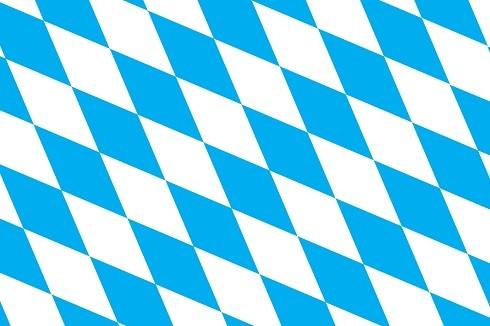Bayern Raute als Fanfahne
