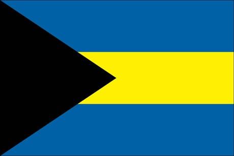 Bahamas als Fanfahne