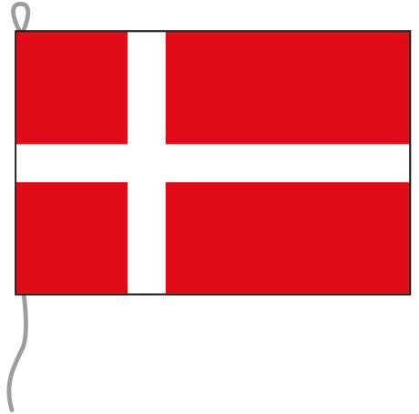 Dänemark als Bootsfahne