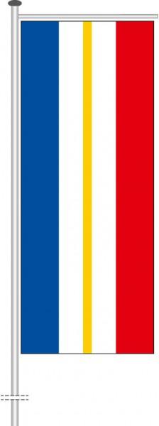 Mecklenburg-Vorpommern - Streifenflagge als Auslegerfahne