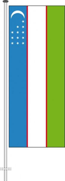 Usbekistan als Hochformatfahne