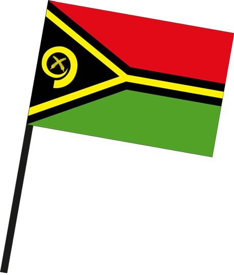 Vanuatu als Stockfahne