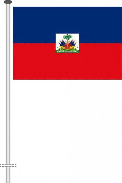 Haiti als Querformatfahne